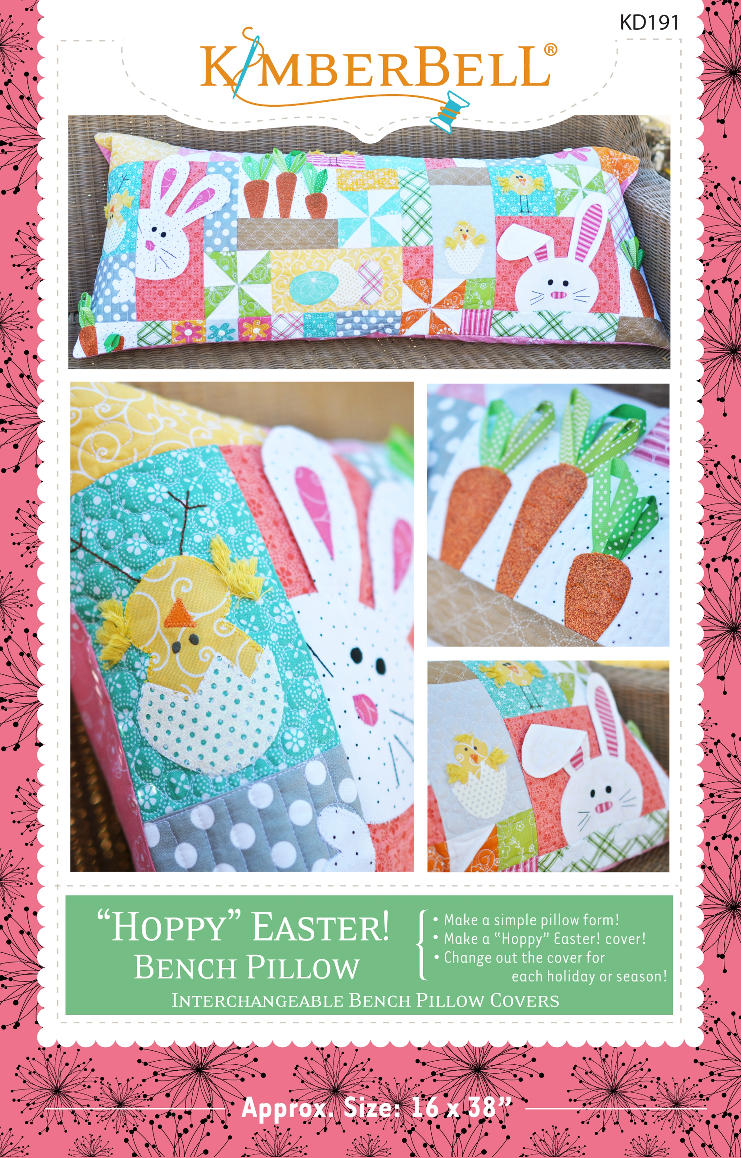 Hoppy Easter Bench Pillow - Sewing Version