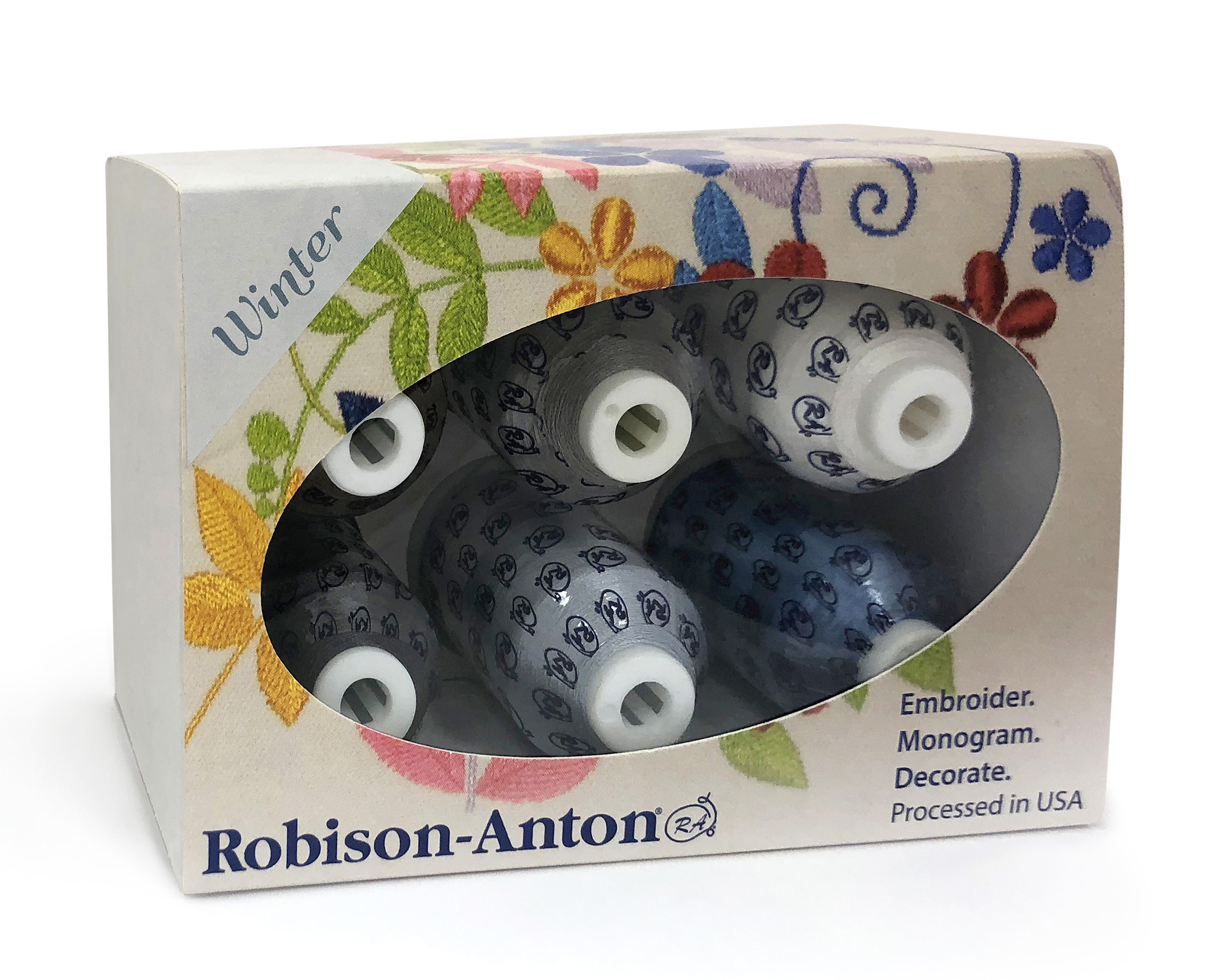 Robison-Anton Rayon Mini King 6 Spool Gift Pack - Winter