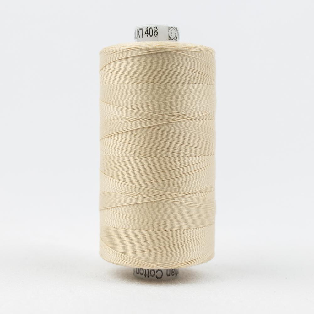 Wonderfil Konfetti  1000m, #406 Ivory, 50wt Egyptian Cotton Thread