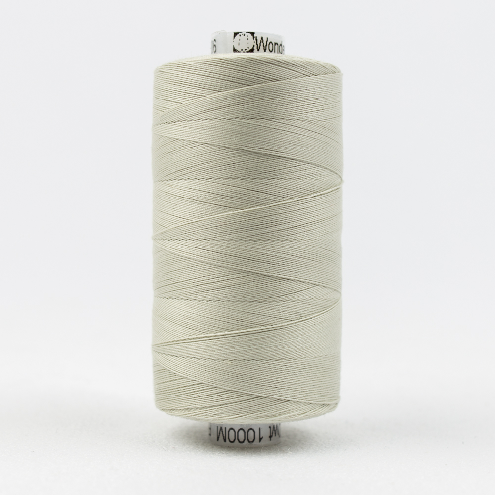 Konfetti KT1-906 Pale Grey 50wt Double Gassed Egyptian Cotton Thread Solid Colors 1093yd...