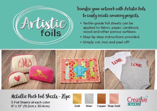 ARTISTIC FOILS METALLIC PACK CREATIVE NOTIONS ARTISTIC FOIL
