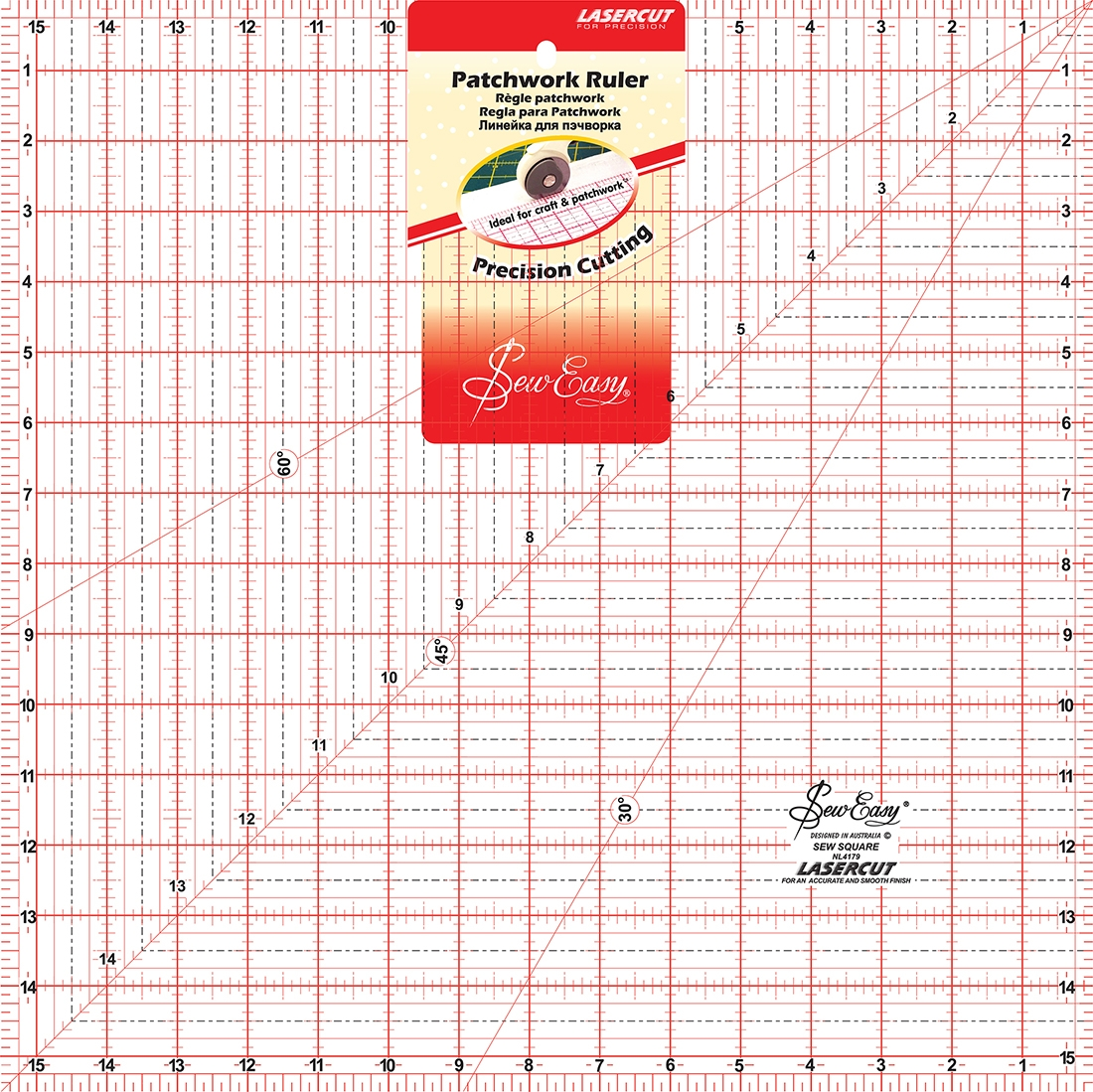 Square 15.5 x 15.5 Sew Easy Quilt Ruler