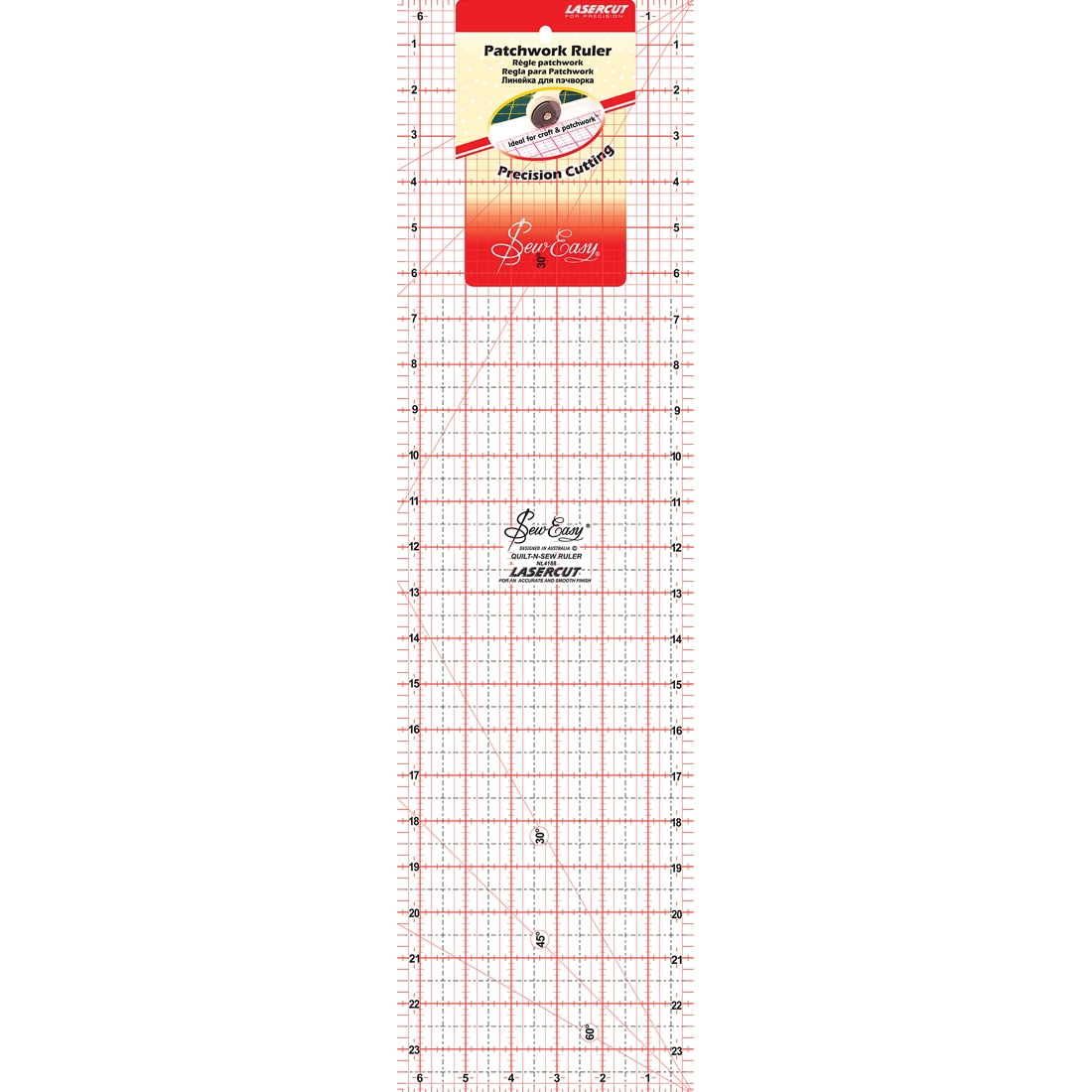 Patchwork 24 In x 6.5 In Ruler Sew Easy