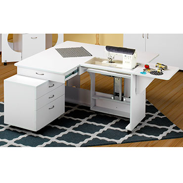 Tailormade QUILTERS VISION WHITE CABINET WITH CADDIE