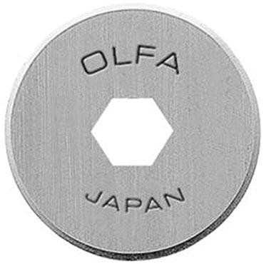 OLFA ROTARY CUTTER 18MM x2 REFILL BLADES