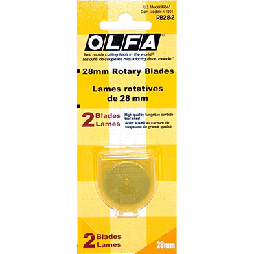 OLFA ROTARY CUTTER 28MM REFILL BLADES 2/PKG 2/PK