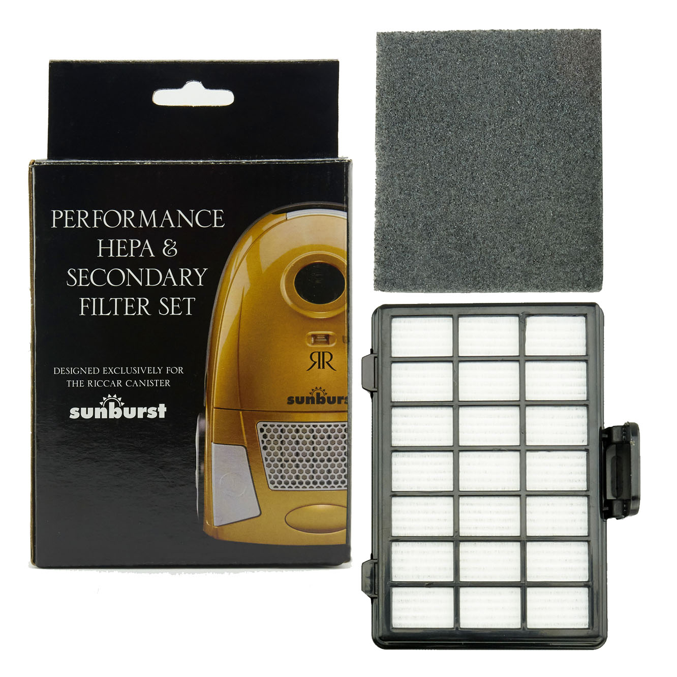 Riccar SUN.1 SUN.3 Performance Hepa & Secondary Filter Set