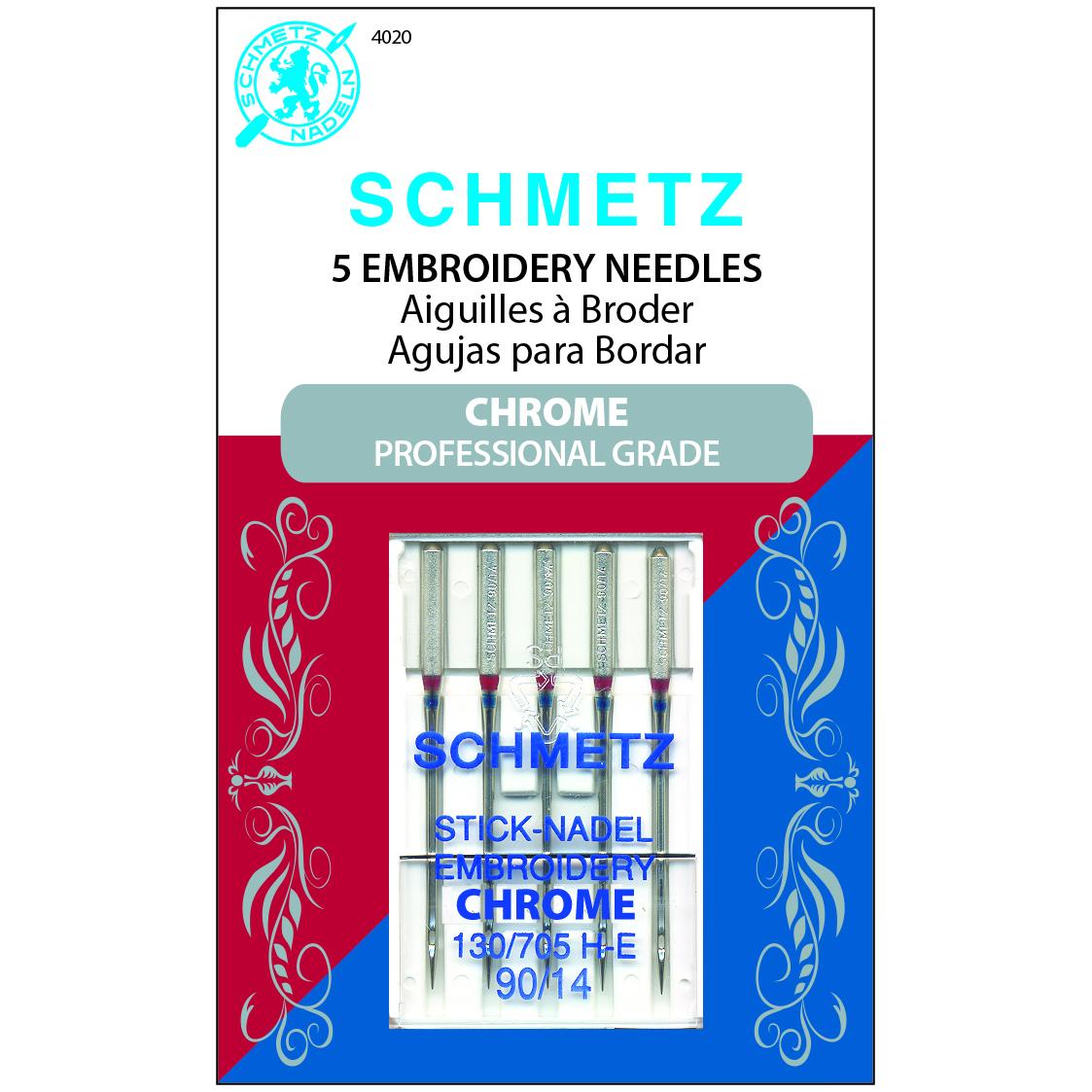#4020 Schmetz Machine Needle Embroidery 90/14 Chrome