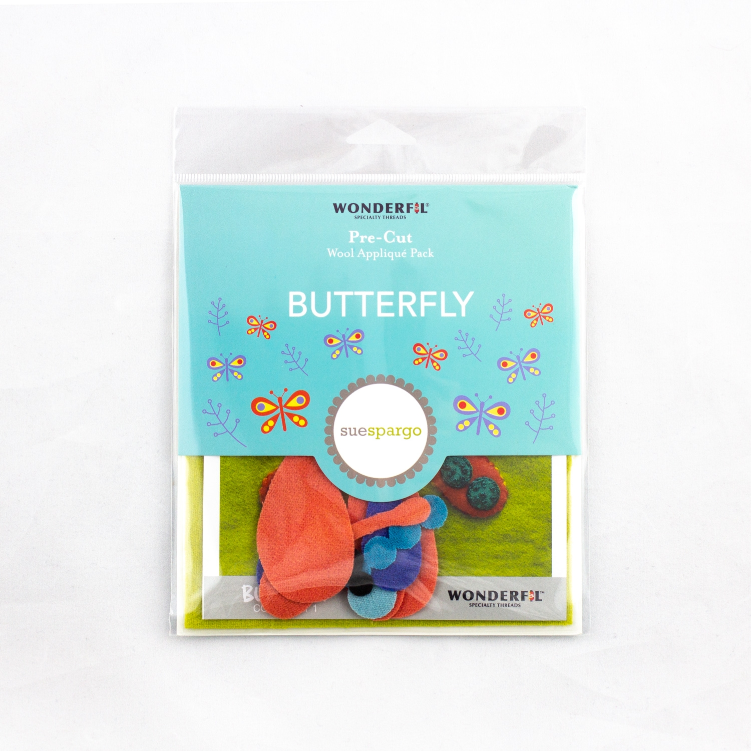 Sue Spargo pre-cut wool pack - butterfly - colorway 1