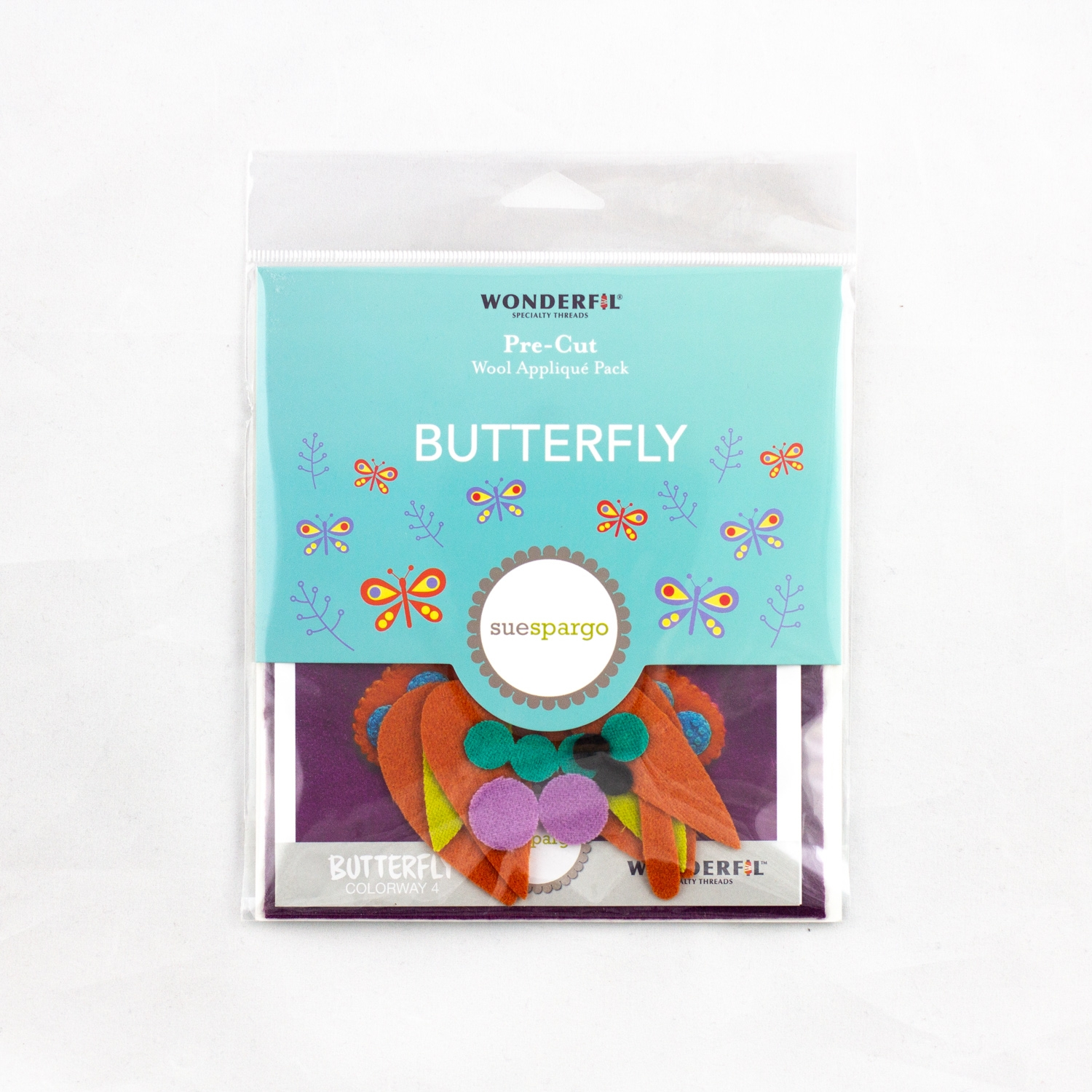 Sue Spargo pre-cut wool pack - butterfly - colorway 4