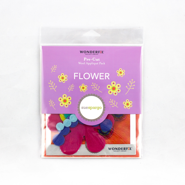 Sue Spargo Pre-Cut Wool Pack - Flower Colorway 1