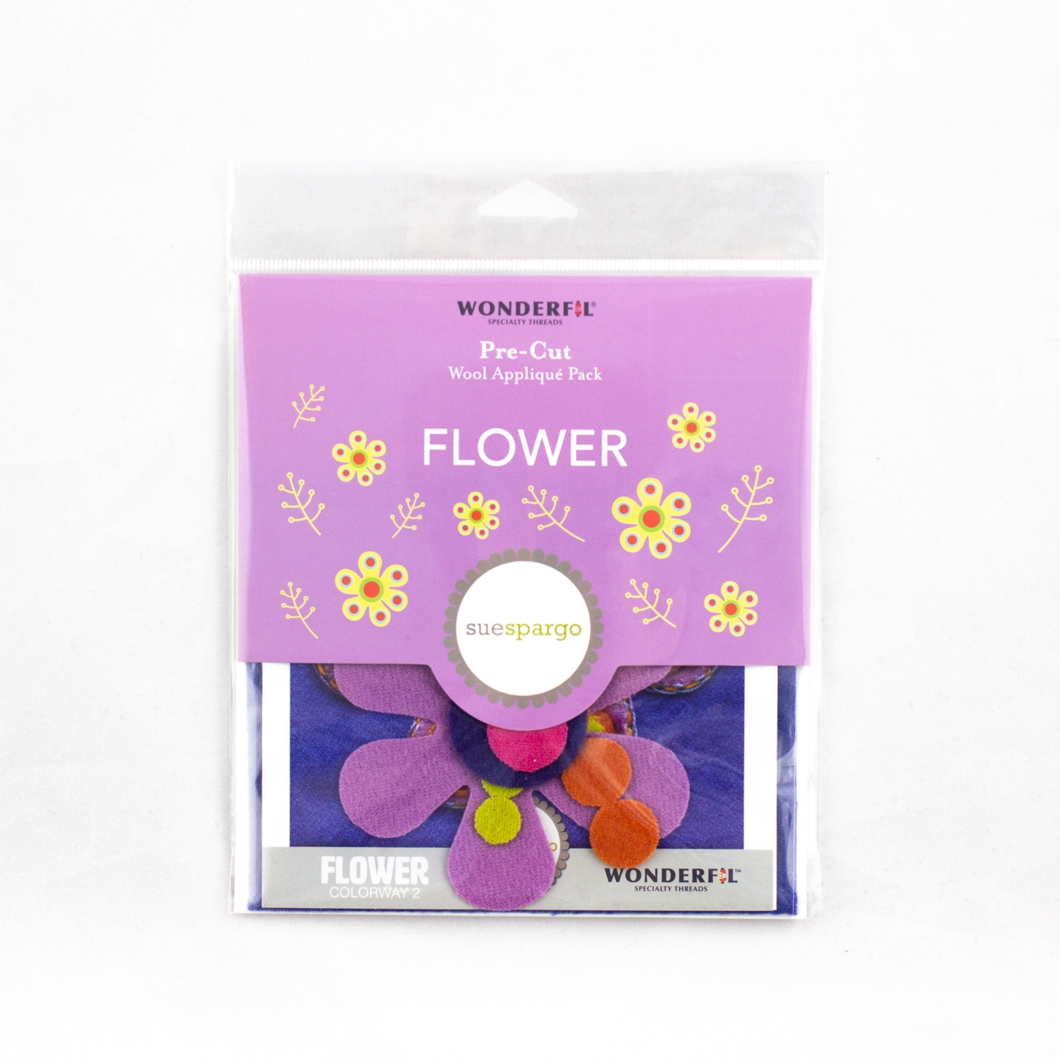 Sue Spargo pre-cut wool pack - flower - colorway 2
