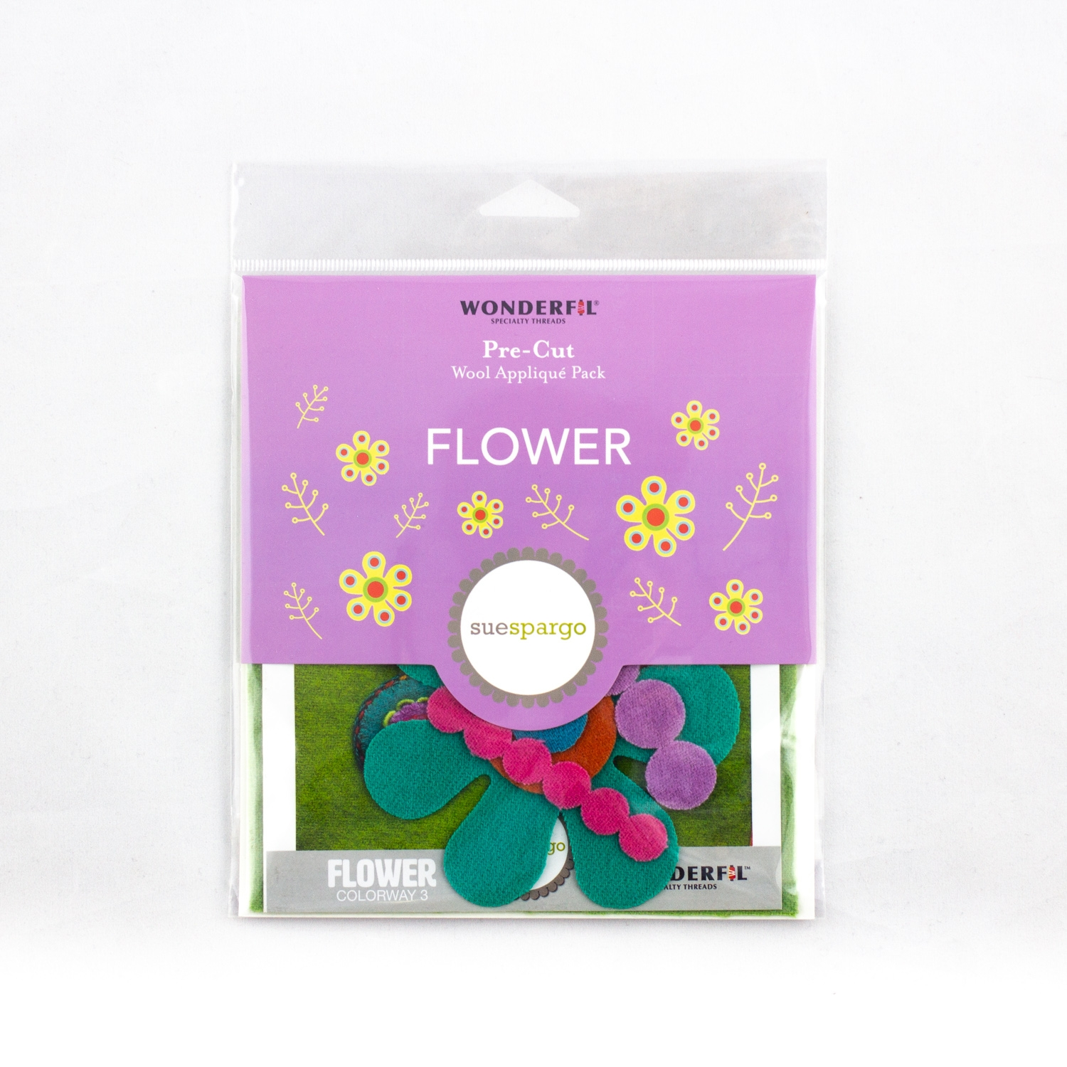 Flower Block Kit Colorway 3 by Sue Spargo
