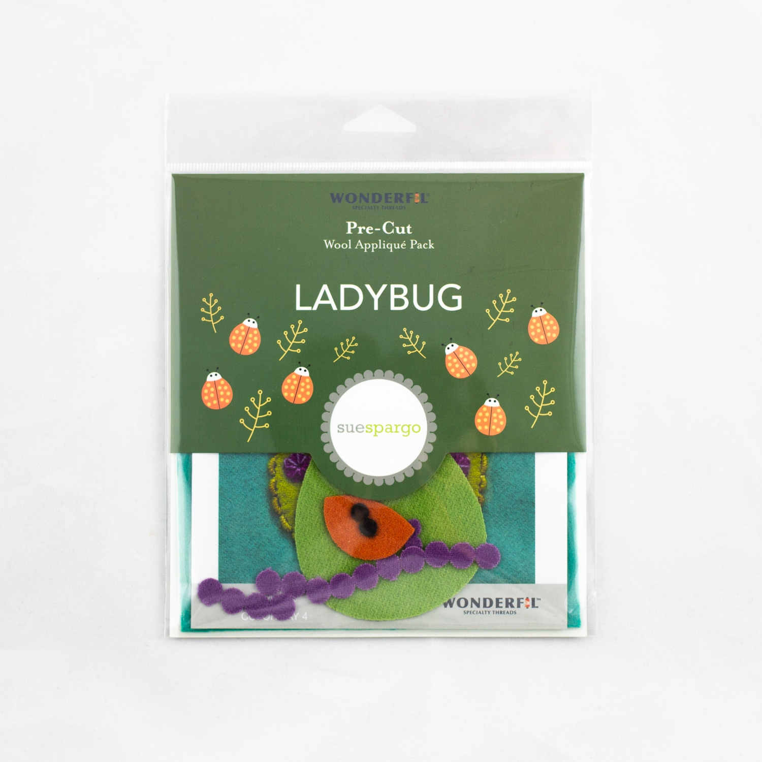 Sue Spargo pre-cut wool pack - ladybug - colorway 4