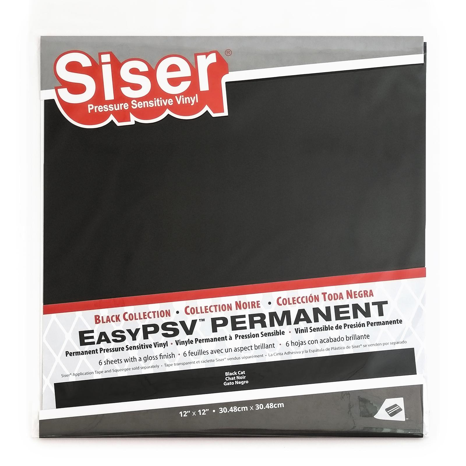 Siser EasyPSV Permanent 6 Pack - Black