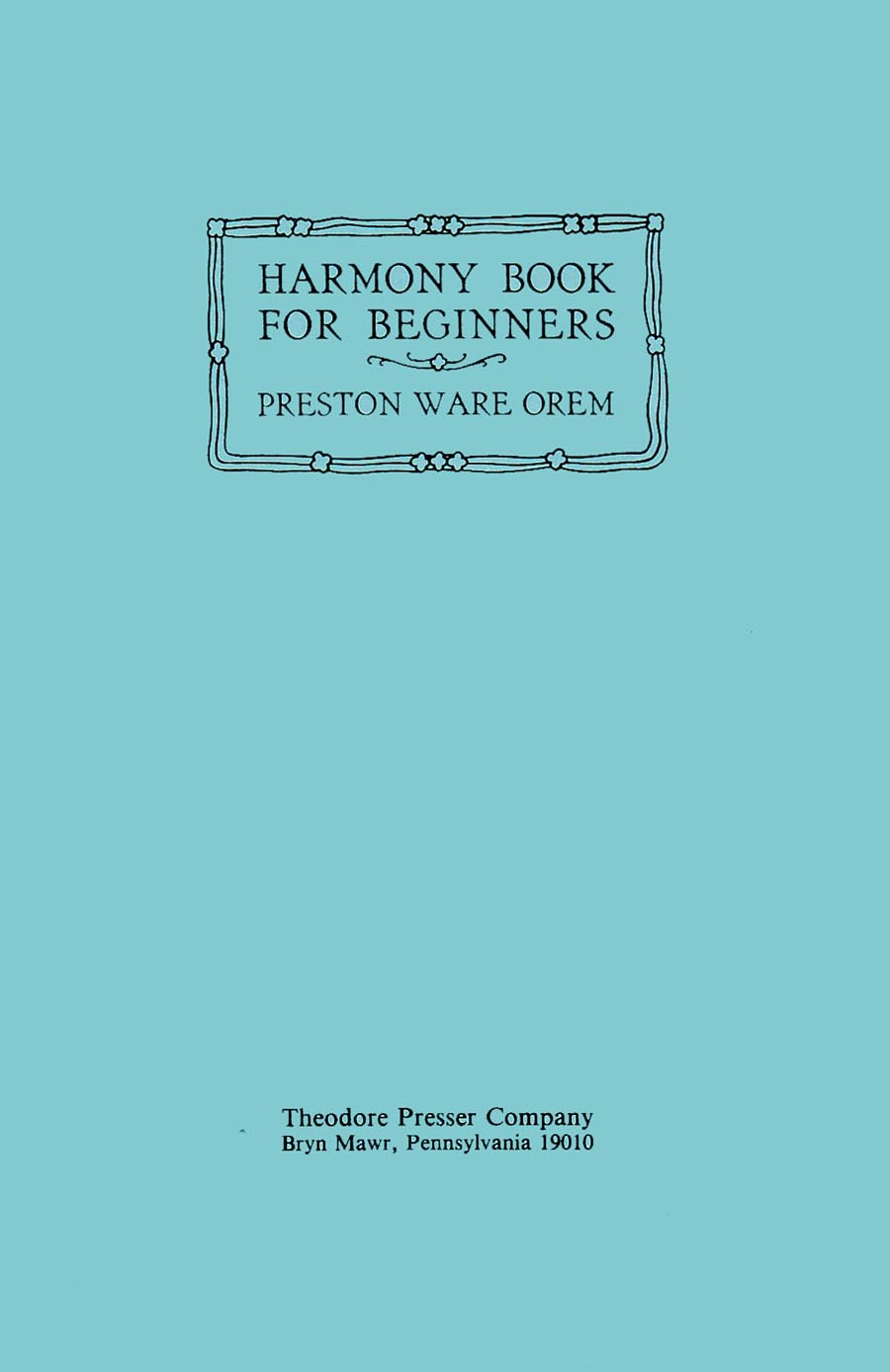 HARMONY BOOK FOR BEGINNERS OREM (41740040 )