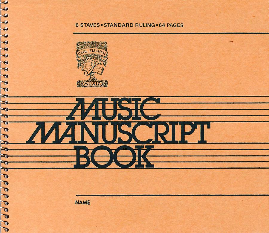 FISCHER MANUSCRIPT BOOK #106 6 ST 64 PG SPIRAL (AC106 ) (Manuscript )