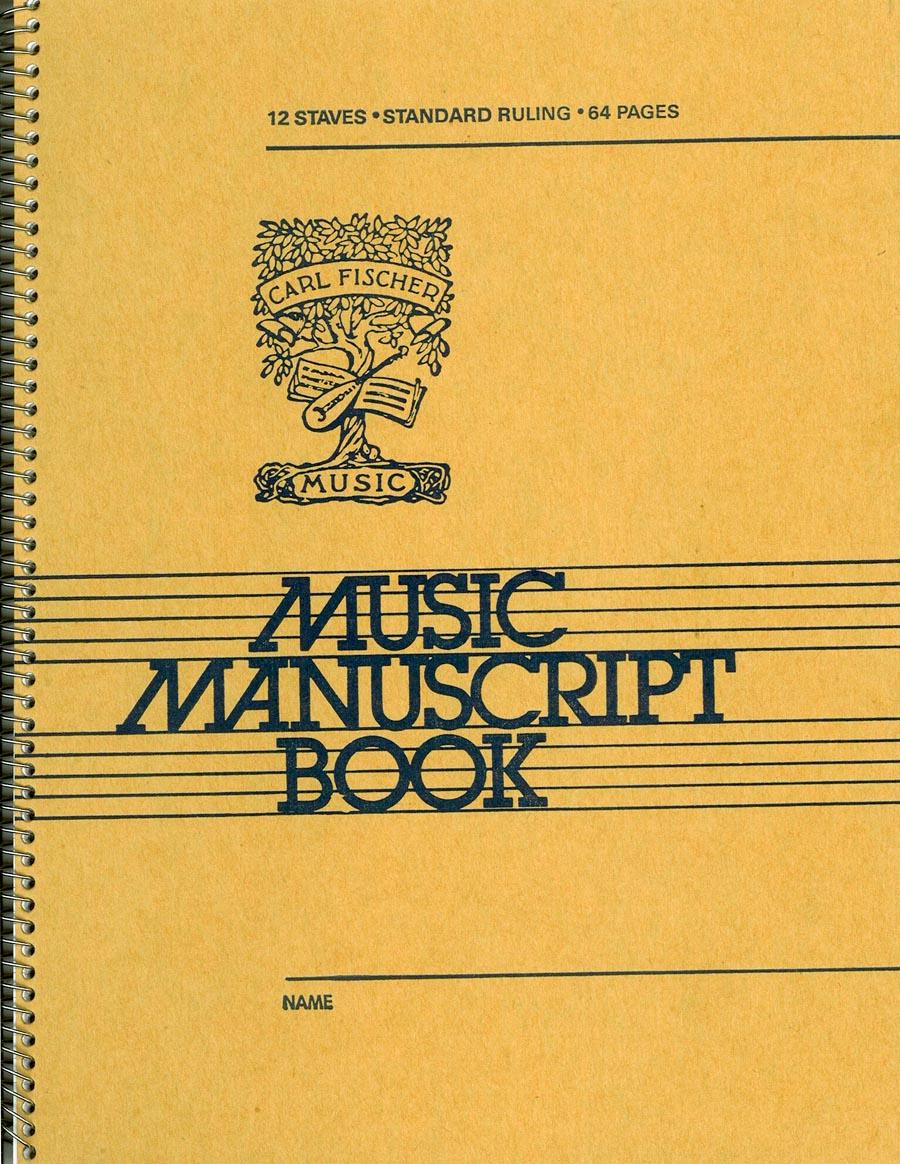 FISCHER MANUSCRIPT BOOK #109 12 ST 64 PG SPIRAL (AC109 ) (Manuscript )