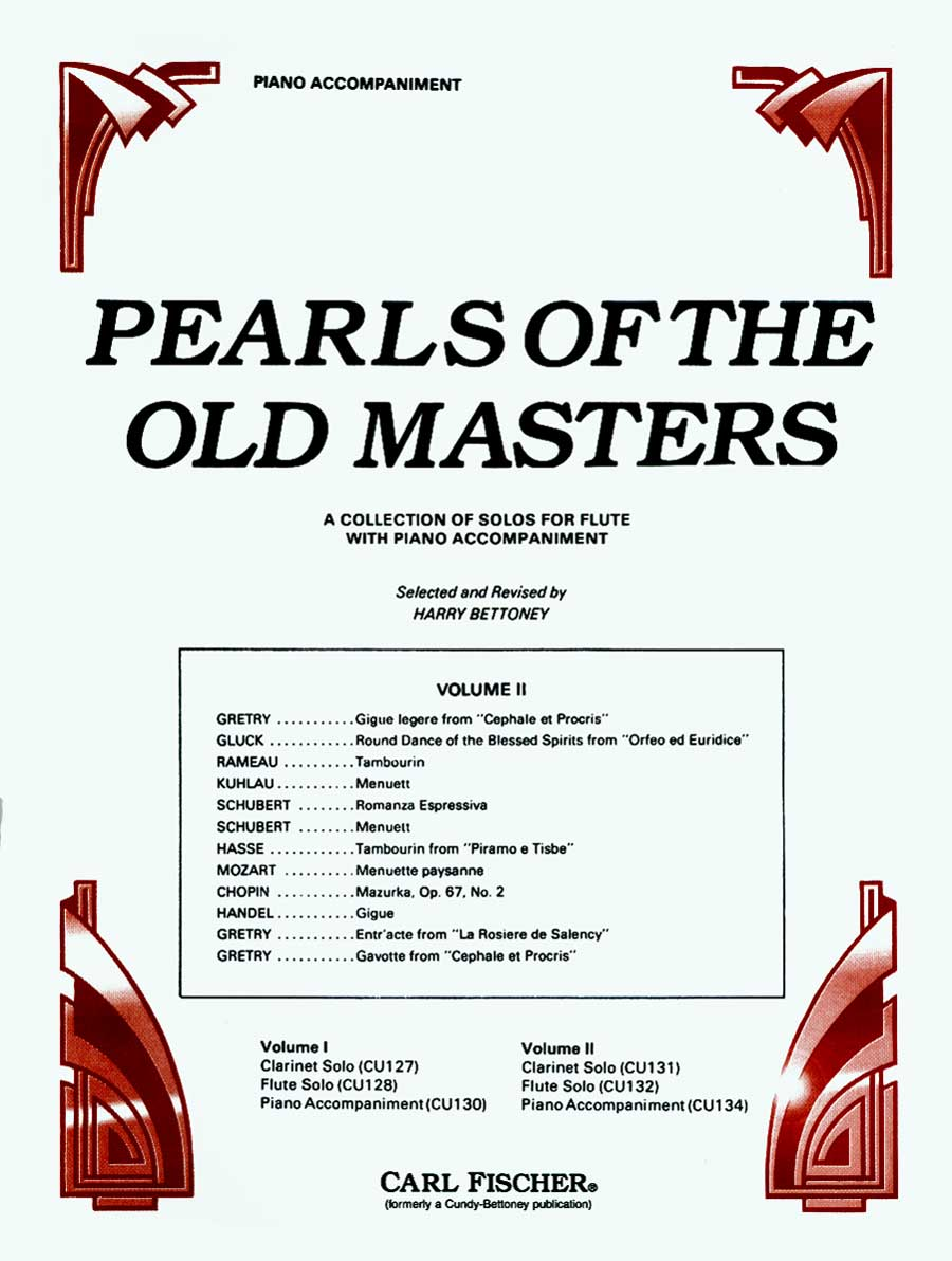 PEARLS OF THE OLD MASTERS 2 CLARINET/FLUTE/OBOE BETTONEY (CU134 ) (Piano Accompaniment Books )