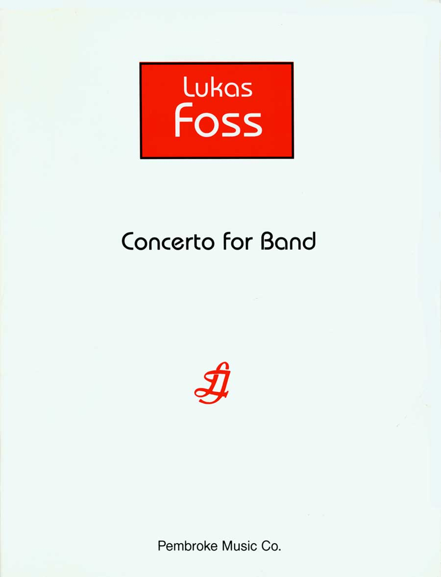 CONCERTO FOR BAND FOSS