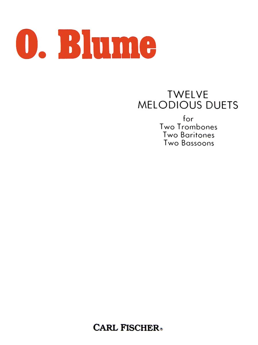 12 MELODIOUS DUETS BLUME