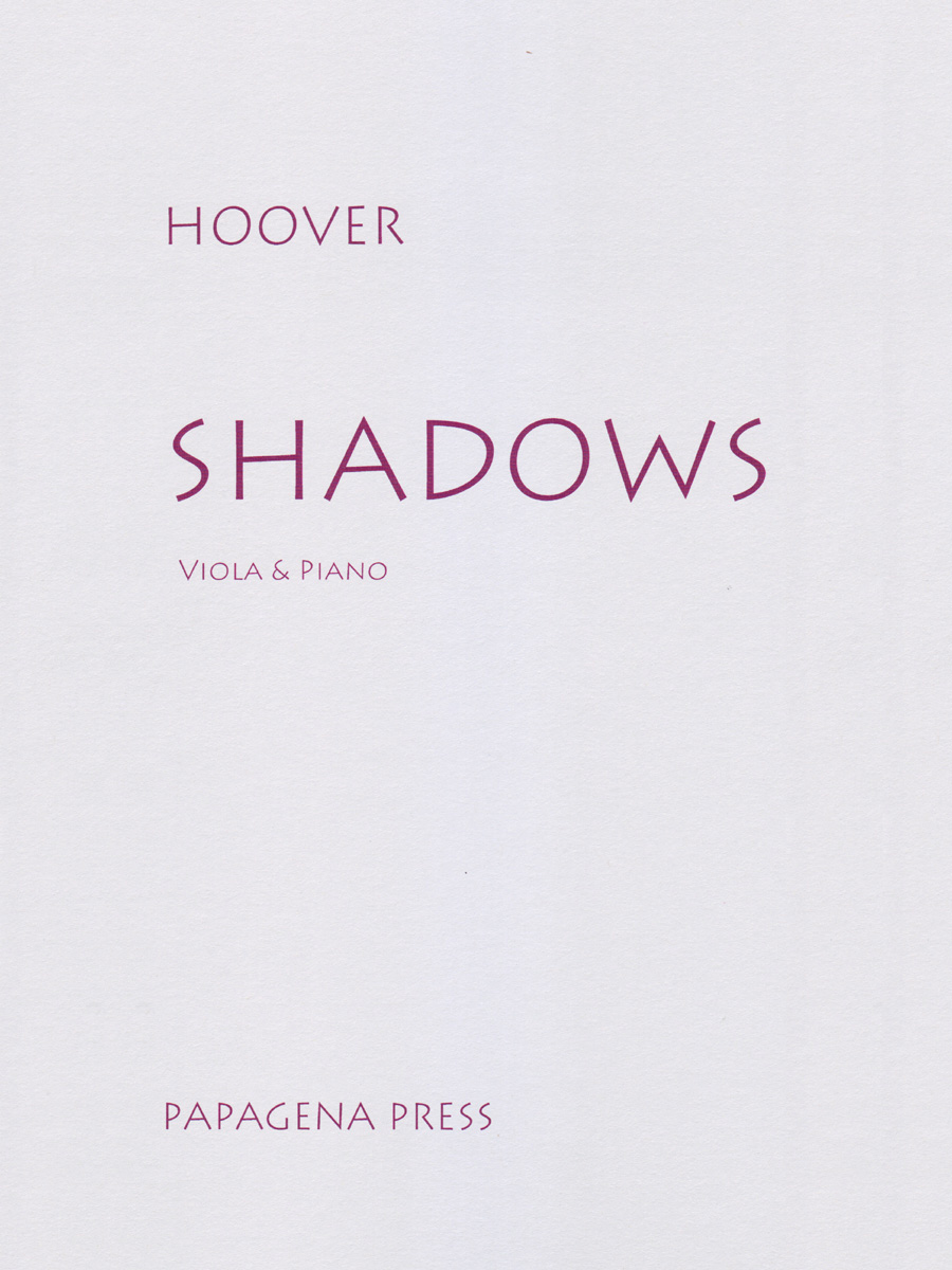 SHADOWS WITH PIANO ACCOMPANIMENT HOOVER (PP182 ) (Viola Solos )