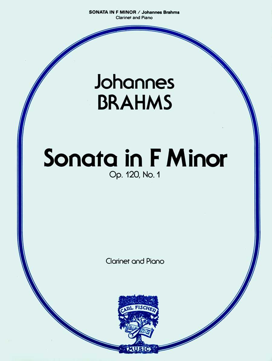 SONATA IN F MINOR 1 OP 120 BRAHMS FISCHER STATE ST00 (W1698 ) (Clarinet Bb Solos )