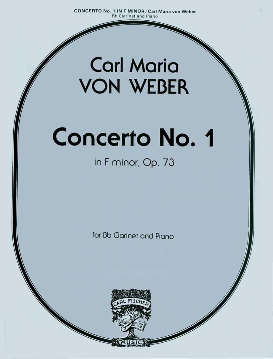 CONCERTO IN F MINOR 1 OP 73 VON WEBER FISCHER STATE ST00 (W1708 ) (Clarinet Bb Solos )