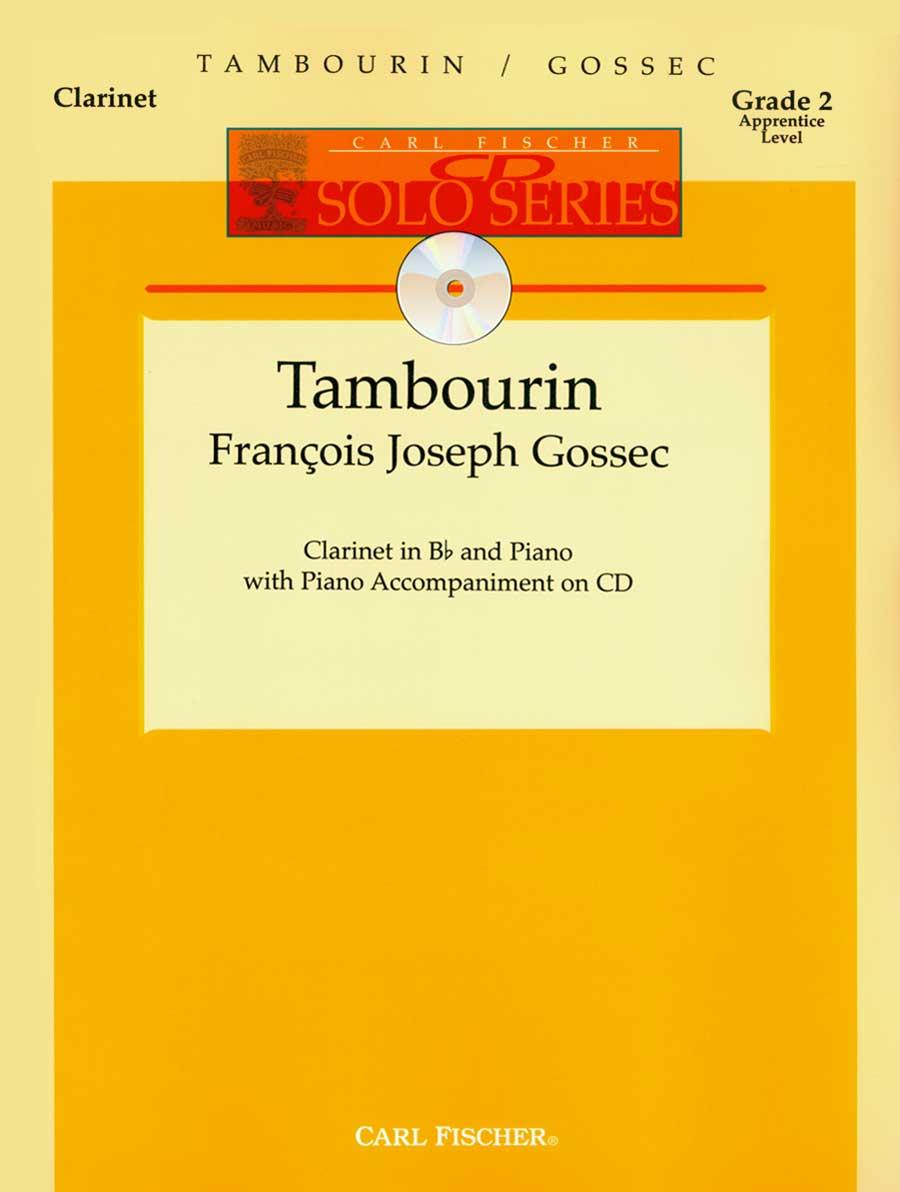 TAMBOURIN WITH PIANO ACCOMPANIMENT GOSSEC IACD (W2579 ) (Clarinet Bb Solos )