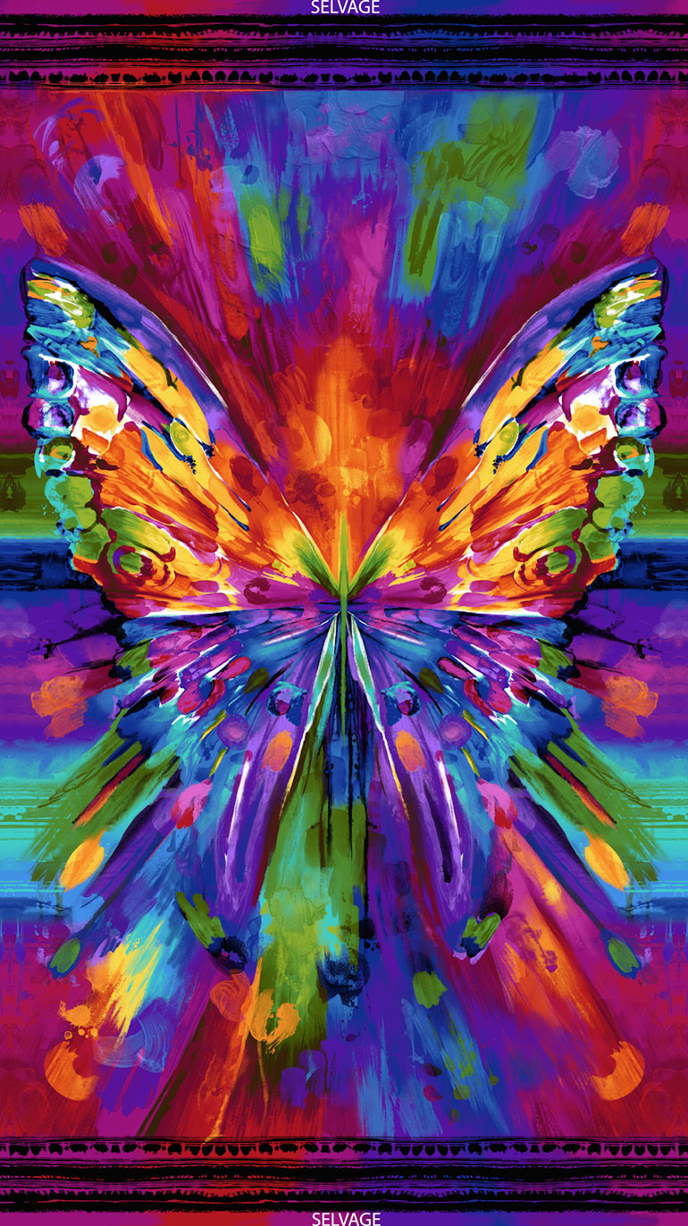 Awaken Abstract Butterfly CD6550 Bright Panel (24 Inch)