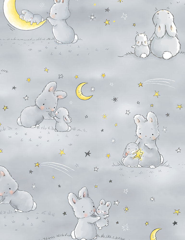 Bunnies and Little Ones cf6453 Flannel