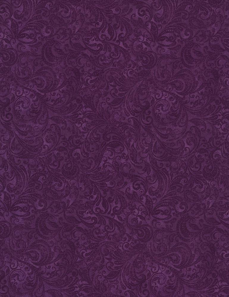 Timeless Treasures | Belle Delicate Filigree: Grape