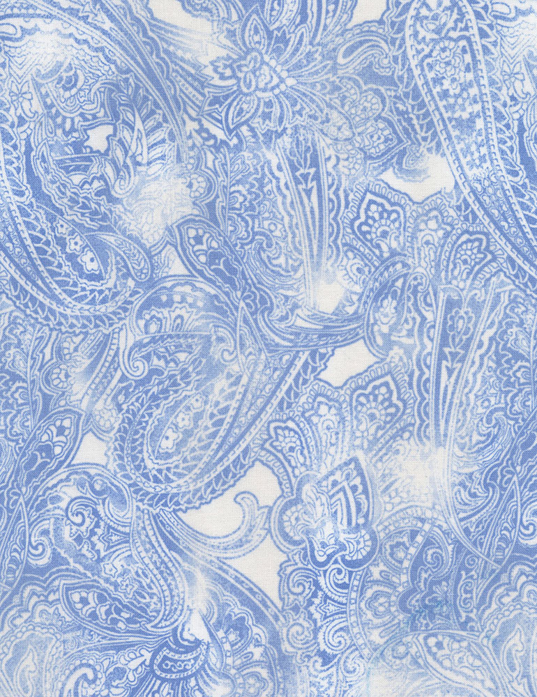 Timeless Treasures Blue Water Paisley C6373