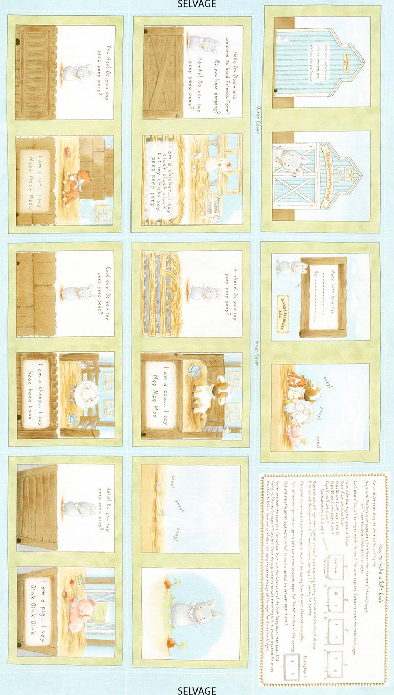 Book - 24 Inch Book Panel - Bunnies C5819