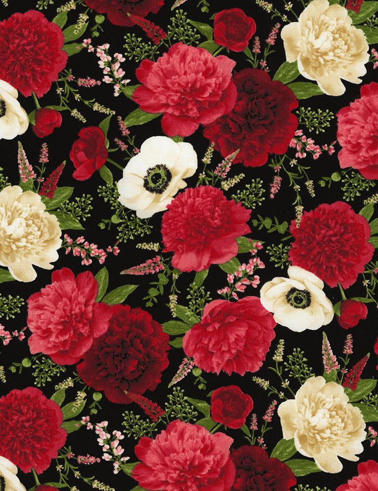 Flowers Carina-C6627-Black
