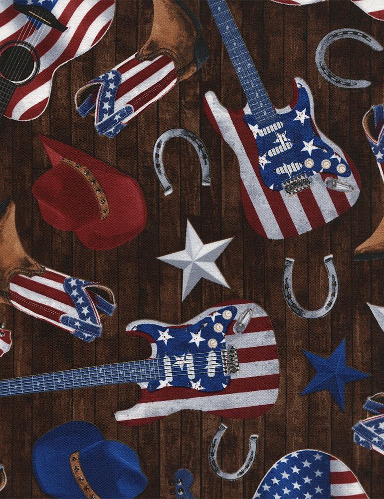 USA-GUITARS, HATS, BOOTS BROWN C4827