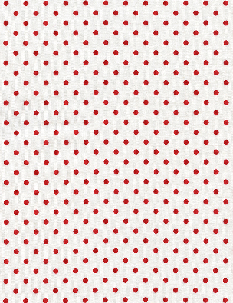 DOTS WHITE W/RED 1820 CHERRY