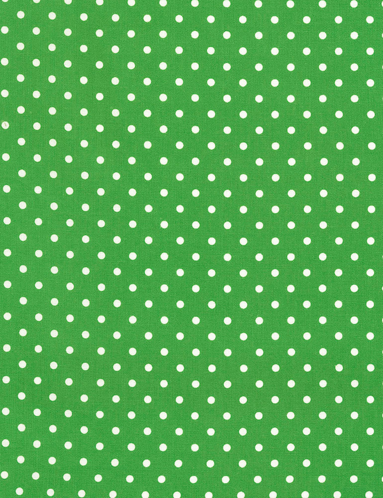 1/4 White Dots on Grass Green Background