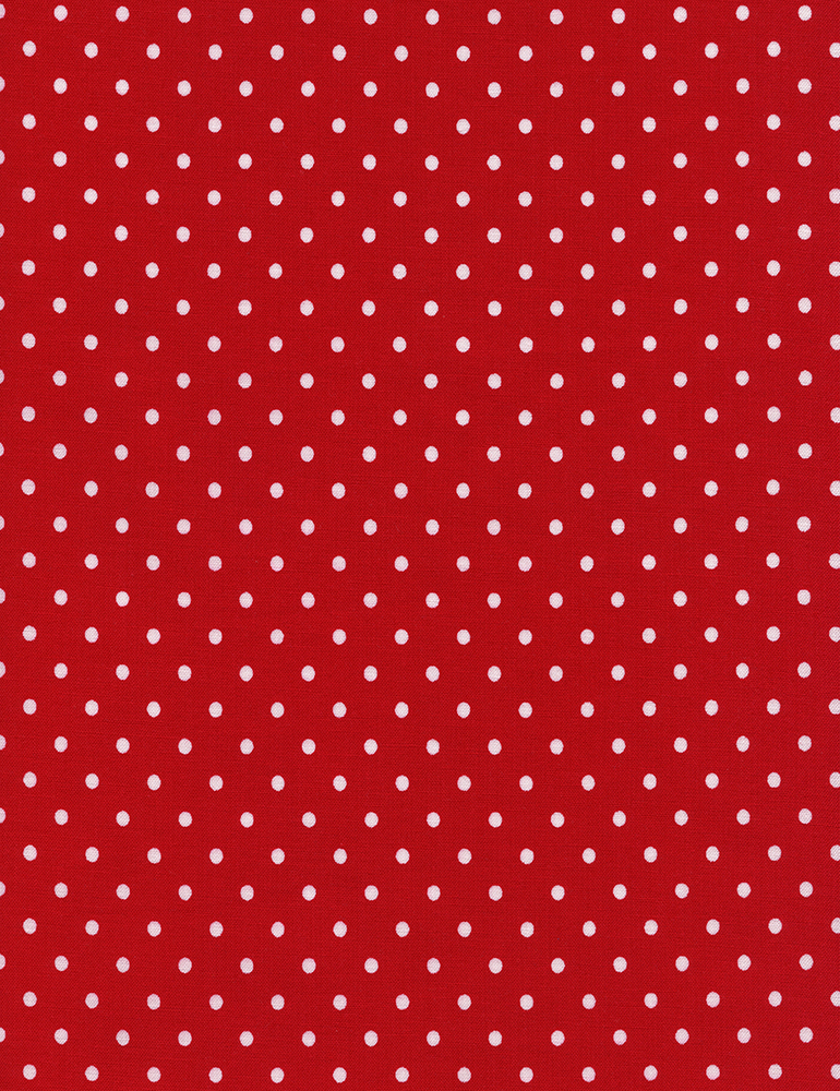 Tiny Red with White Dot