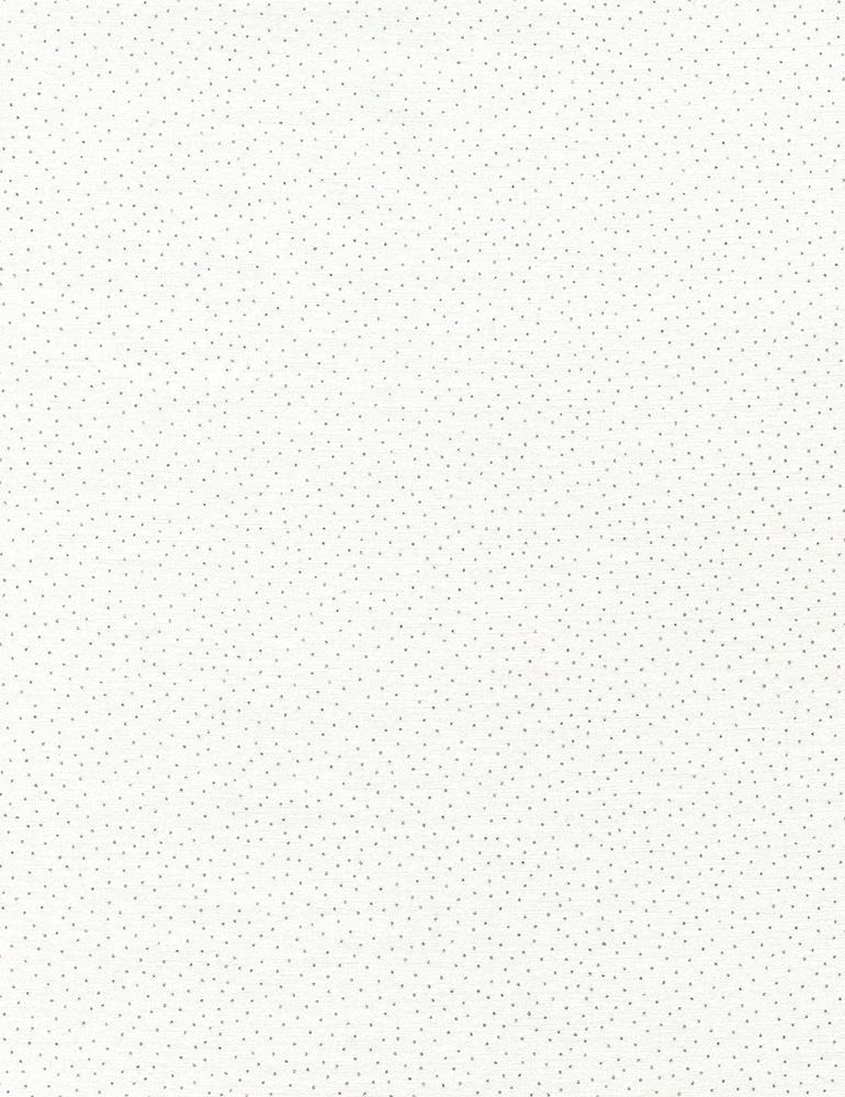 Metallic Pin Dots - White