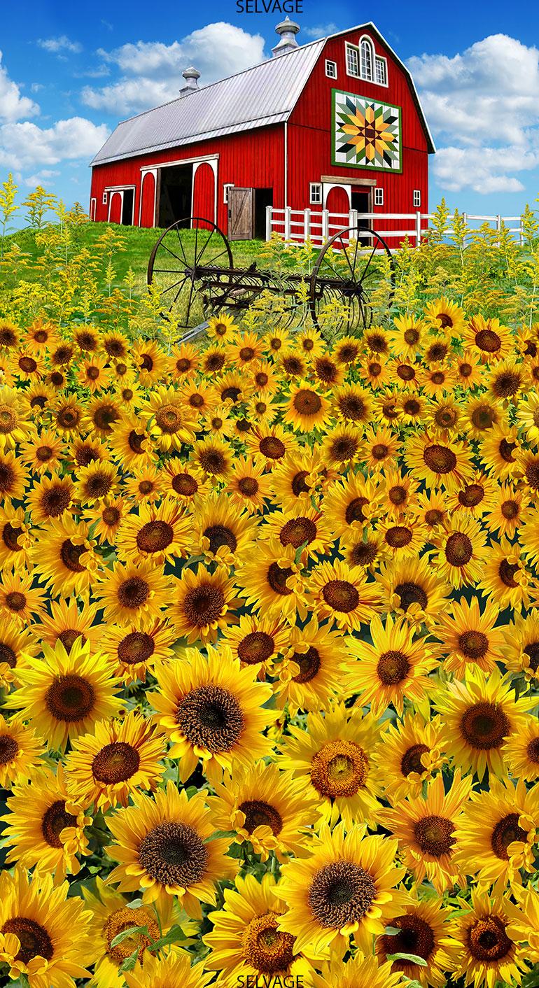 Barn & Sunflower Panel