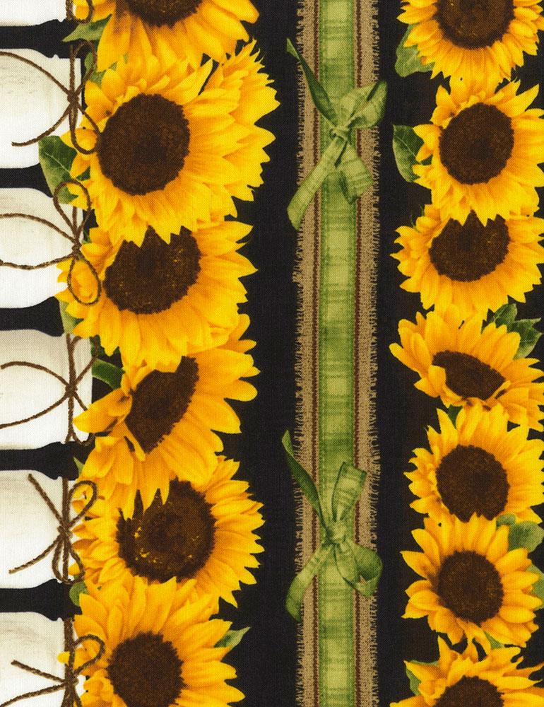 11 Inch Sunflower Stripe