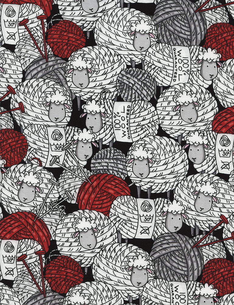 FUN: Sheep & Yarn - Black