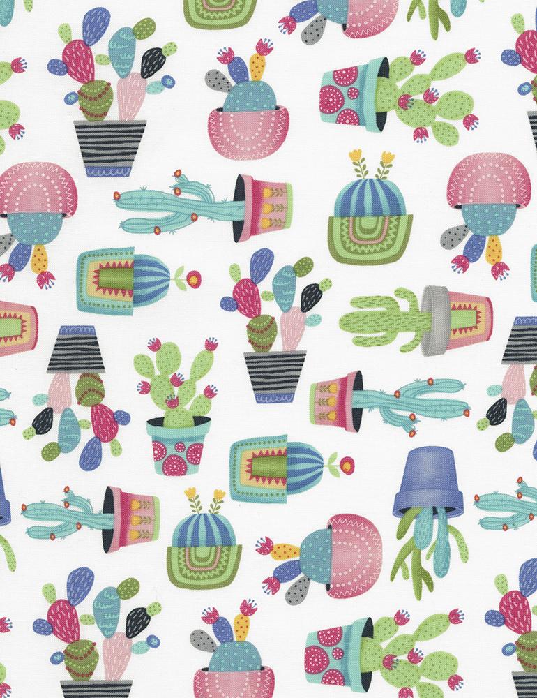Potted Cactus - Fun-C5691 White