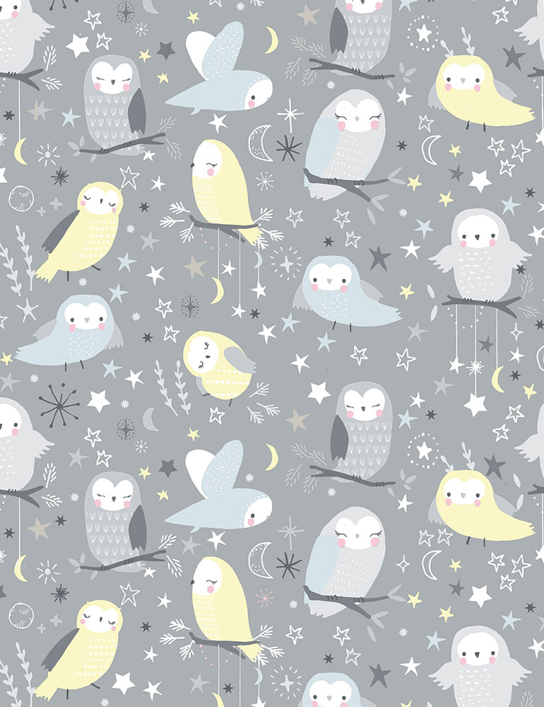 Whimsical Owls Flannel cf6288