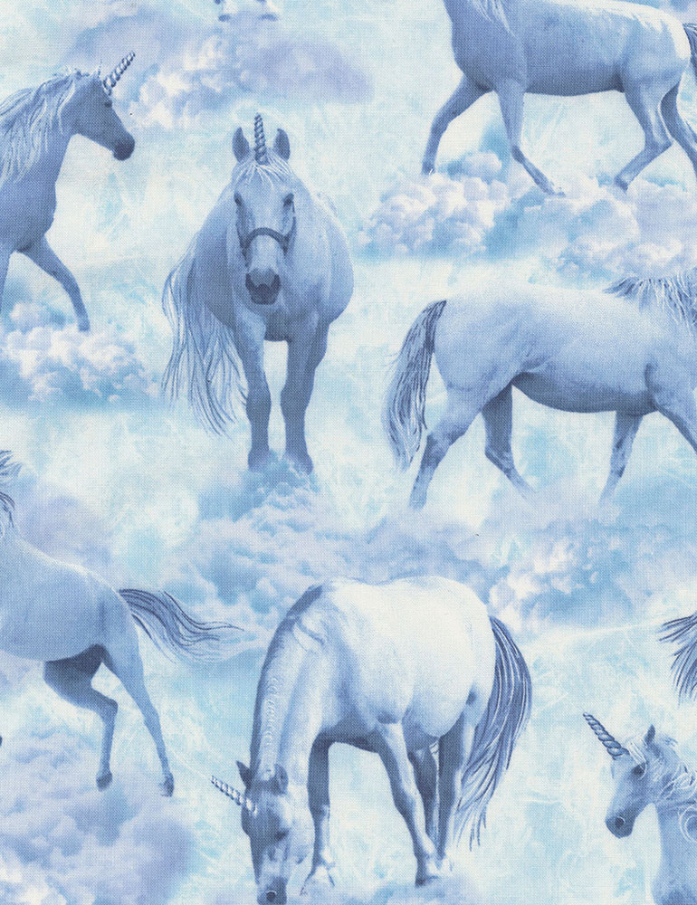 Unicorn Clouds Fabric