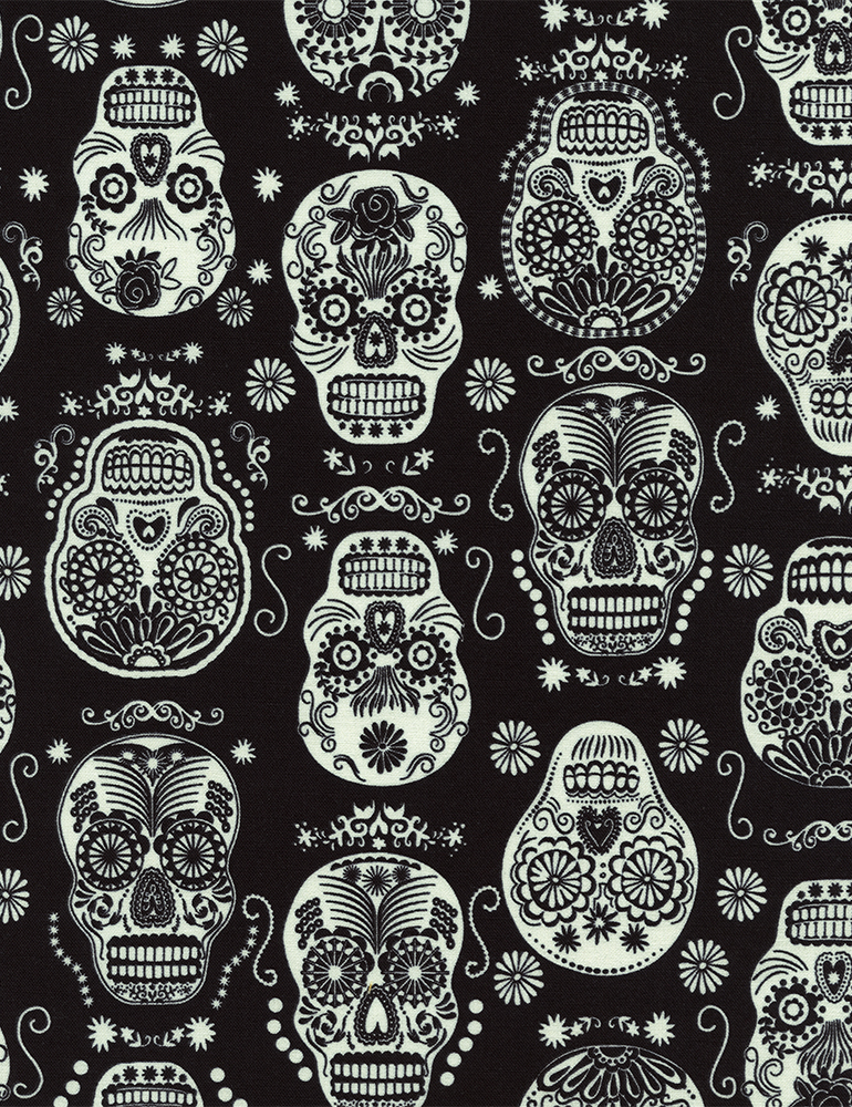 Glow in the Dark Folklore Skulls