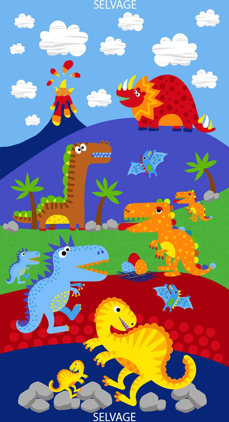 Dinosaur Road Panel