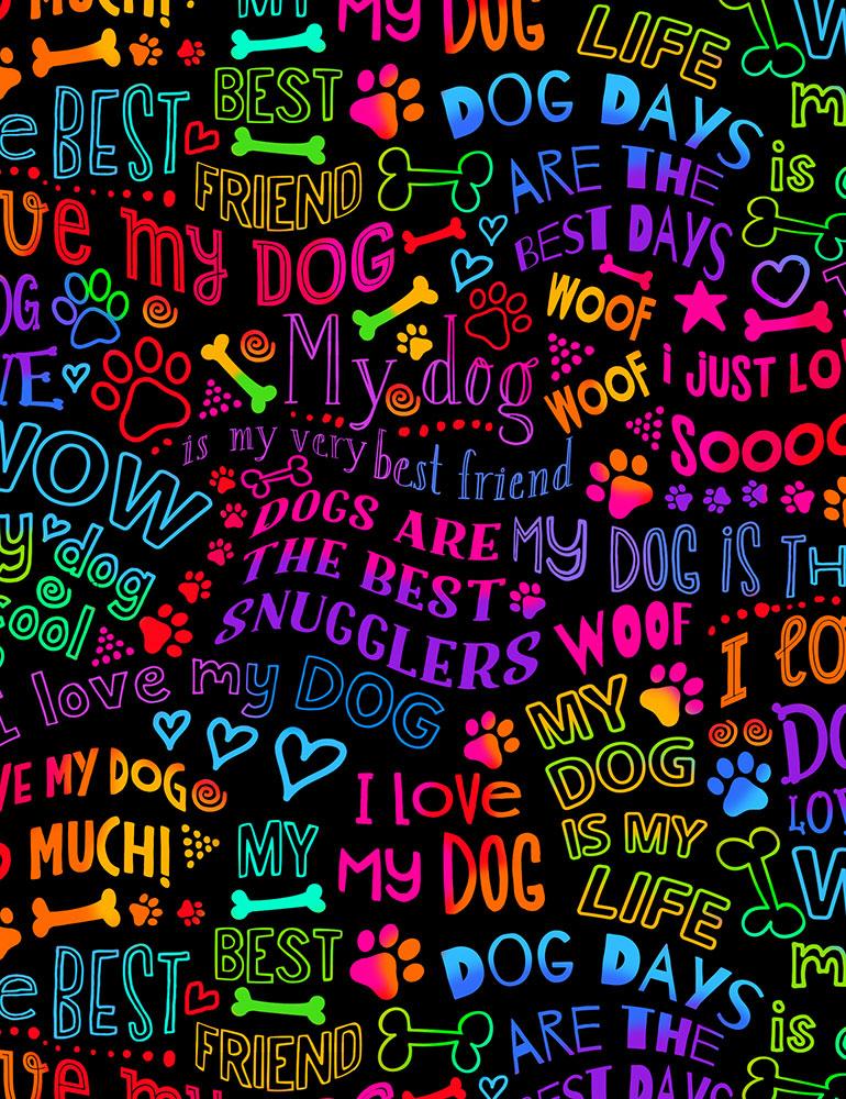 Rainbow Dog Best Friend Writing