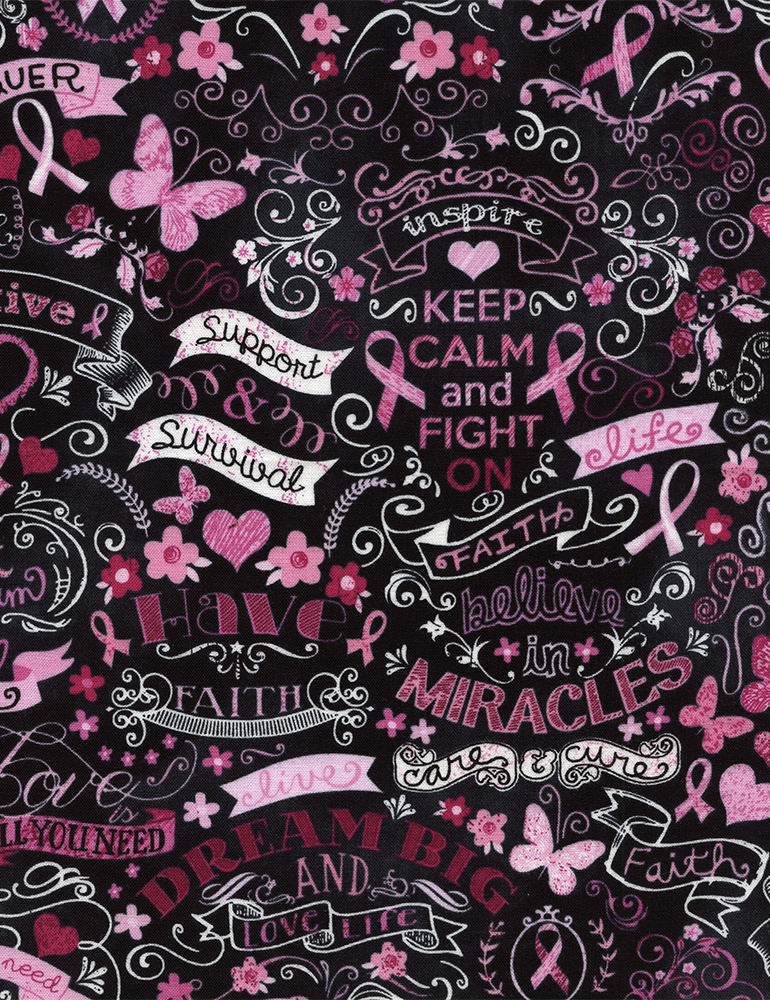 Pink Ribbon Chalkboard